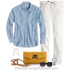 """Denim on Denim"" by fiftynotfrumpy on Polyvore"