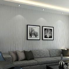 Solid Color Vertical Striped Wallpaper-Light Grey