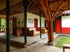 El uso de la guadua se extiende a muchas casas en el departamento del Quindío, como la hacienda El Bambusal, en Montenegro. Foto: Juan Uribe