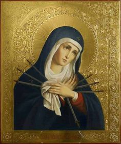 Catholic Feasts and Devotions - Devotion to the Seven Sorrows of Our Lady Divine Mother, Blessed Mother Mary, Blessed Virgin Mary, 7 Sorrows Of Mary, Our Lady Of Sorrows, Catholic Prayers, Catholic Art, Religious Images, Religious Art
