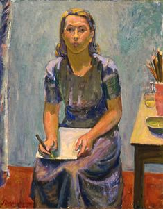 Portrait of Tove Jansson 1940 by Sam Vanni Amos Anderson Art Museum Tove Jansson, Artist Painting, Figure Painting, Figurative Kunst, Collaborative Art, Paintings I Love, Helsinki, Portrait Art, Les Oeuvres