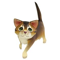 Abyssinian Cat Papercraft