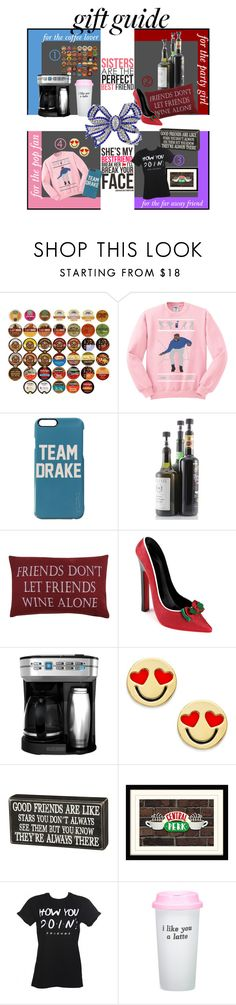 """""""Holiday Gift Guide: My BFFs"""" by rnoinge ❤ liked on Polyvore featuring interior, interiors, interior design, home, home decor, interior decorating, Keurig, Soiree, Park B. Smith and Black & Decker"""