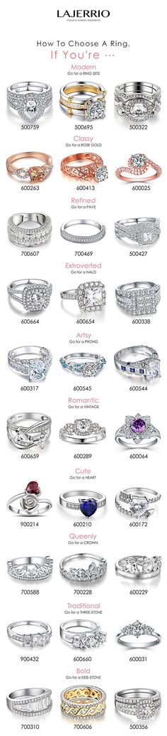 Lajerrio fashion promise rings gifts for engagement / #wedding / cocktail sapphire bridal ring sets valentine's engravable for her via lajerrio.com