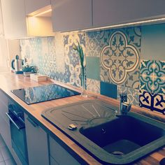 Marrakesh cement tile - Dream kitchen 💙