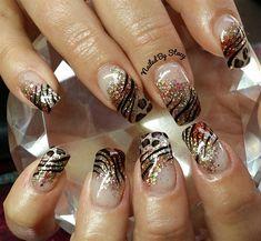 FALL for Animal Print by NailedByStacy - Nail Art Gallery nailartgallery.nailsmag.com by Nails Magazine www.nailsmag.com #nailart