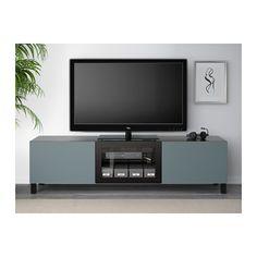 IKEA BESTÅ TV bench with drawers and door