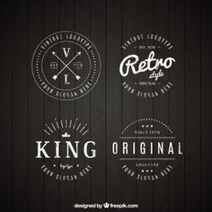 Discover the best free resources of Vintage Logo Logos Vintage, Retro Logos, Vintage Labels, Retro Vintage, Vintage Style, Logo Circulaire, Rundes Logo, Wm Logo, Kreis Logo