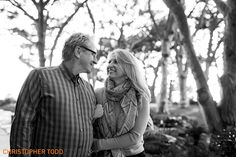 classic black and white photo of engaged couple at wayfarers chapel in palos verdes