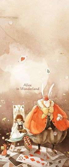 Alice In Wonderland / © Kim Minji - illustrator Children's Book Illustration, Watercolor Illustration, Alice Rabbit, Kim Min Ji, Alice In Wonderland Illustrations, Adventures In Wonderland, Matte Painting, Lewis Carroll, Disney Art