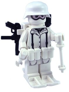Custom Lego Military Soldier Minifigure Model Soldiers German Winter Mountain Combat Soldier