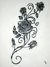 Image result for stylized+rose+design