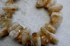 Citrine Gemstone Bead Strand by BeadyEyedBird on Etsy, $18.00