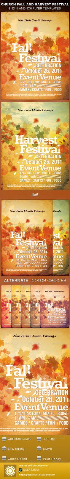 Harvest Festival Church Flyer Template Flyer Template Photoshop