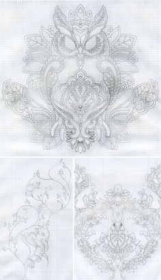 Tula Pink's Fabric Design Sketches