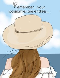 Summer - Remember Your Possibilities are Endless - Summer Art - Beach Ocean Wall Art Print - Art Print - Wall Art -- Print Girl Quotes, Woman Quotes, Happy Quotes, Taking Chances Quotes, Chance Quotes, Hello Weekend, Summer Art, Illustrations, Positive Quotes