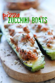 """""""Pizza"""" Zucchini Boats and other low carb ideas."""
