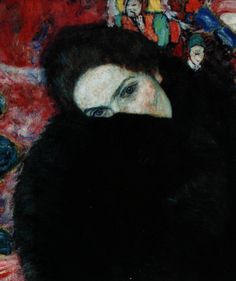 artemisdreaming:    Dame mit Muff (Lady with Muff),1916  Gustav Klimt   Detail    Dame mit Muff,1916 - Gustav Klimt