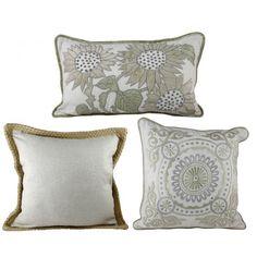 Set of 3 Vintage Style Cushions