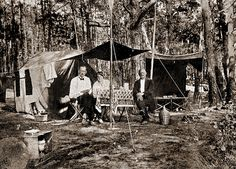 Camping 1912. Love the camping clothes.
