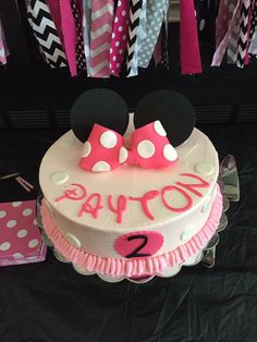 Minnie Mouse 2nd Birthday Cake Greenville SC Wwwmysweetfavorites