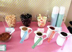 Photo 6 of Ice Cream Party / Birthday Annas Ice Cream Parlor Dessert Buffet, Breakfast Dessert, Ice Cream Buffet, Icecream Bar, Icecream Ideas, Cream Candy, For Elise, Ice Bars, Ice Cream Social