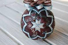 Resultado de imagen para quilted ball ornaments