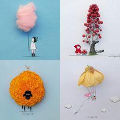 Artist Turns Flowers & Everyday Objects Into Art 🐞🍒🌺 Art Floral, Make Theme, Creative Artwork, Weird Art, Everyday Objects, Simple Art, Halloween Cards, Face Art, Pop Art
