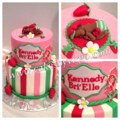 One of my friend's baby shower cake! Strawberry Shortcake Themed! LOVE!