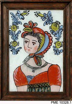 Roj-Kozłowska Helena, Obraz na szkle Frajerka Janosikowa   Zbiory on-line Państwowego Muzeum Etnograficznego w Warszawie