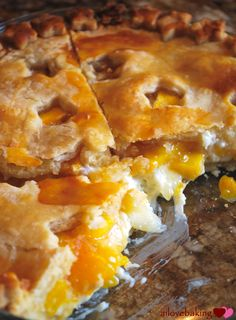 Peach Cream Cheese Pie...so delicious! Serve with vanilla bean ice cream or whipped topping!