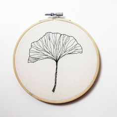 Gingko leaf embroidery