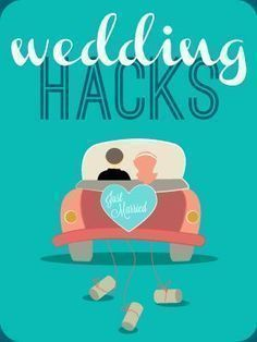 Wedding Hacks Infographic - Save time and money by using DIY wedding creativty! Chances are it will save you a ton of stress! From @WeddingMix