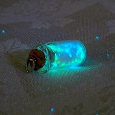 Magic Glowing Sand  Glow in the Dark Miniature Glass by Clover13, $27.00