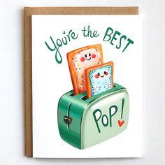 Fathers Day Card Dad Birthday Card Pun Card by MudsplashStudios Birthday Present Dad, Father Birthday Cards, Cool Birthday Cards, Funny Fathers Day Card, Birthday Card Sayings, Fathers Day Crafts, Happy Birthday Dad, Birthday Quotes, Diy Birthday