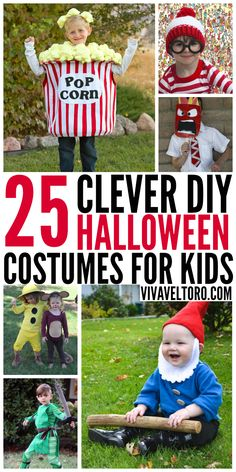 Clever DIY Halloween costume ideas for kids.