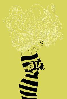 Bonne Journée by Marguerite Sauvage #acid #yellow