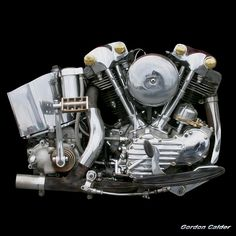 Classic Harley Davidson Knucklehead Motorcycle Engine by Gordon Calder Harley Davidson Knucklehead, Knucklehead Motorcycle, Harley Davidson Engines, Harley Davidson Motorcycles, Hd Vintage, Vintage Bikes, Motorcycle Engine, Motorcycle Design, Motorcycle Gear