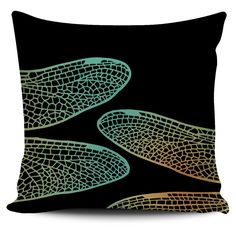$5 FLASH SALE - Dragonfly Wings Pillow set: 3 of 3 - Colorful zentangle inspired pillow covers!