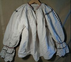 1880's Extant shirt, homespun linen, completely hand sewn. Beautiful historical pure linen clothing. Hand Sewn, Nike Jacket, Athletic, Pure Products, Sewing, Clothing, Jackets, Shirts, Beautiful