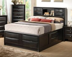 49 Bookcase Bed Frame Queen 1000 Ideas About Bookcase Headboard intended for measurements 1024 X 768 Queen Size Bed Frame With Drawers - A little office de Bookshelf Headboard, Bookcase Bed, Bed Frame And Headboard, Headboards For Beds, Black Bookcase, Storage Headboard, Queen Headboard, Wood Headboard, Headboard Ideas