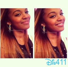 Lovin the hair and earrings China Anne Mcclain Sisters, Chyna Parks, Love Your Hair, Famous Singers, Disney Stars, Celebs, Celebrities, Cute Hairstyles, My Girl