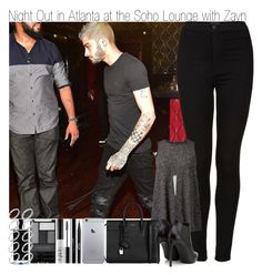"""""""Night Out at the Soho Lounge with Zayn"""" by elise-22 ❤ liked on Polyvore featuring Topshop, BCBGeneration, Yves Saint Laurent, Stila, shu uemura, NARS Cosmetics, Wet n Wild, Agonist, ASOS and NightOut"""