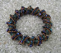 Free Beaded Spiral Bracelet Patterns   Cellini spiral bracelets - Forums - Bead Magazine - Online ...