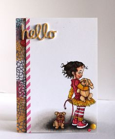 Great use of white space! Love, love Alice's {Little} Wonderland cards!  (Image: Mara from Mo's Digital Pencil.)