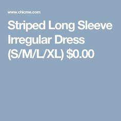 Striped Long Sleeve Irregular Dress (S/M/L/XL) $0.00 Womens Fashion Online, Striped Dress, Amazing Women, Long Sleeve, Dresses, Vestidos, Striped Dress Outfit, Long Dress Patterns, Fringe Dress