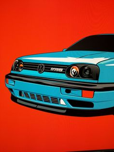Golf Tips For Chipping Vw Golf 3, Golf Mk3, Volkswagen Jetta, Jetta Vr6, Cool Car Drawings, Car Illustration, Vw Cars, Automotive Art, Car Tuning