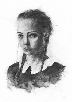 Sandra, Graphite on paper Pancake, Graphite, Art Drawings, Portrait, Paper, Illustration, Headshot Photography, Illustrations, Pancakes