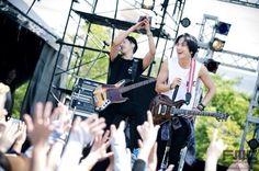 Jung Yong Hwa & Lee Jung Shin @ Summer Sonic 2014