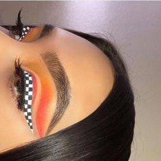 checkered and orange make-up look - pinentry.top - checkered and orange makeup look, - checkered and orange make-up look - pinentry.top - checkered and orange makeup look, - Makeup Eye Looks, Eye Makeup Art, Crazy Makeup, Eyeshadow Looks, Eyeshadow Makeup, Eyeliner, Hair Makeup, Makeup Brushes, Prom Makeup